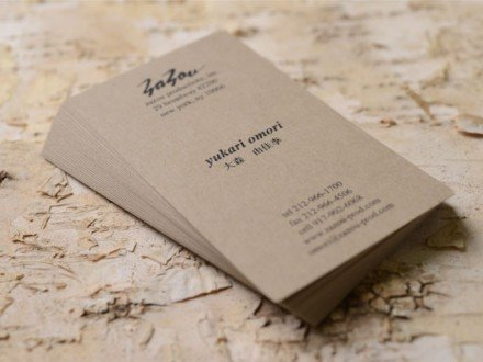 color paper business cards