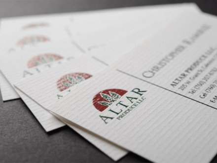 creative raised ink business cards