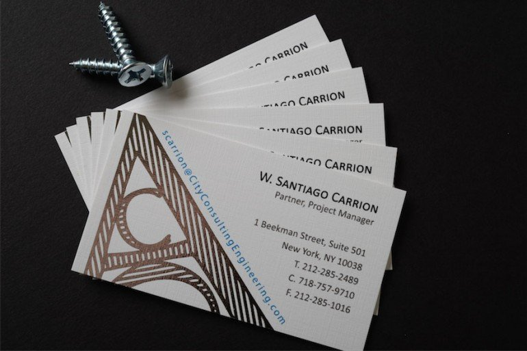 foil creative business cards