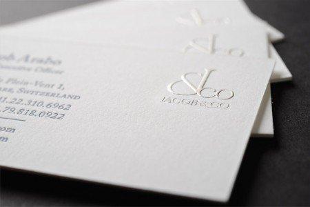 letterpress raised ink business cards