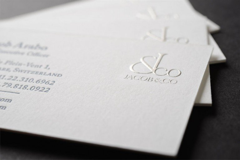 letterpress raised ink business cards