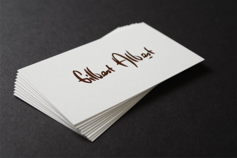 Minimalist business cards to add maximum value to your brand raised ink best business cards reheart Gallery