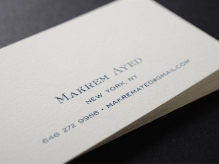 raised ink nyc business cards