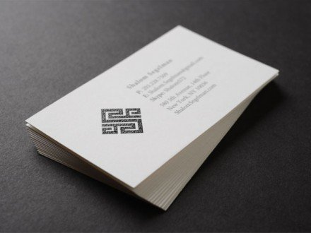 raised ink textured business cards