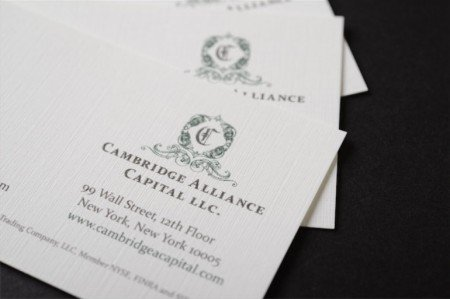 raised ink thick business cards