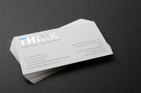 silk foil business cards
