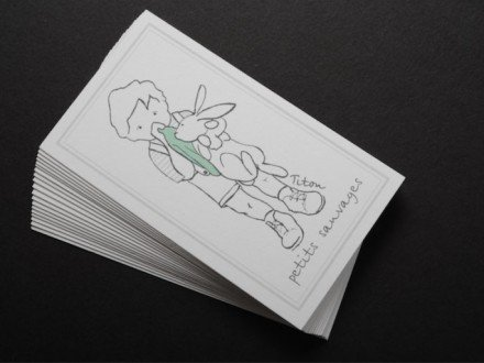 vertical creative business cards