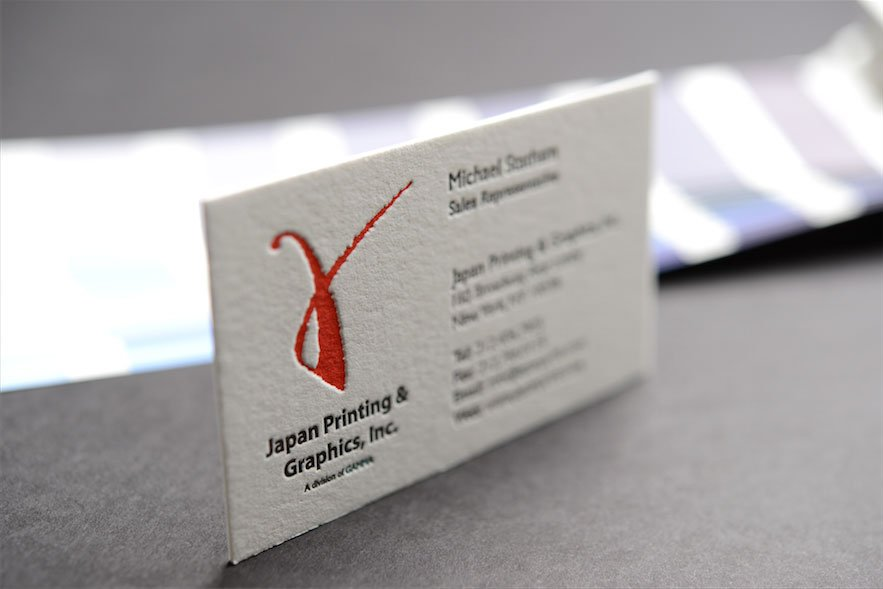 letterpress business cardsletterpress - Japanese Business Card