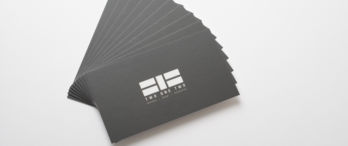 black business cards printed in NYC