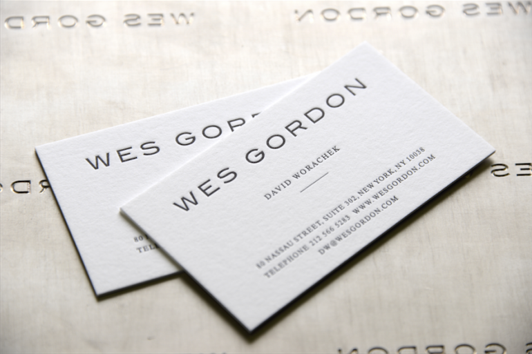 letterpress embossed business cards nyc - Thermography Business Cards