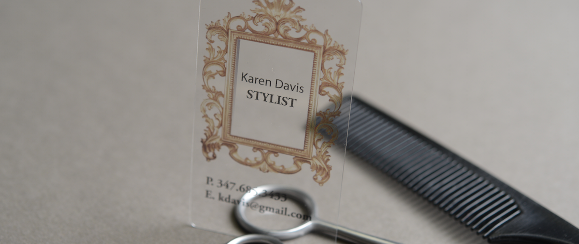 Transparent plastic business cards NYC