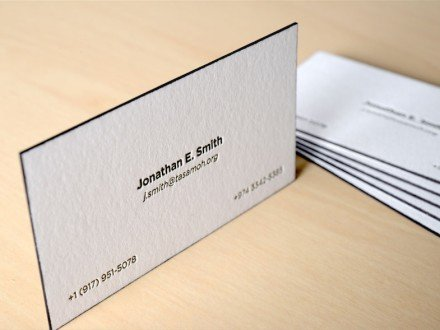 edge painted letterpress business cards nyc