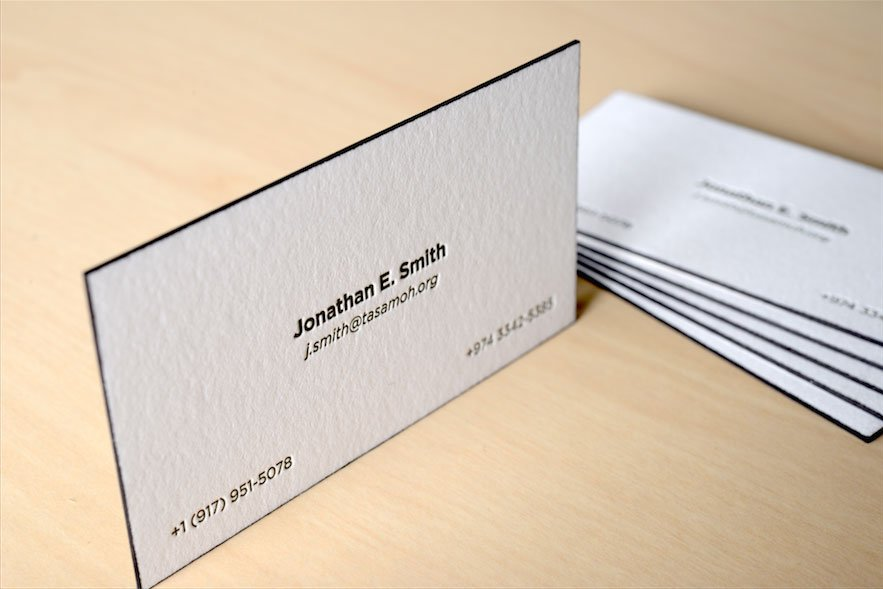 See our premium line for high quality same day business cards in nyc edge painted letterpress business cards nyc colourmoves Image collections