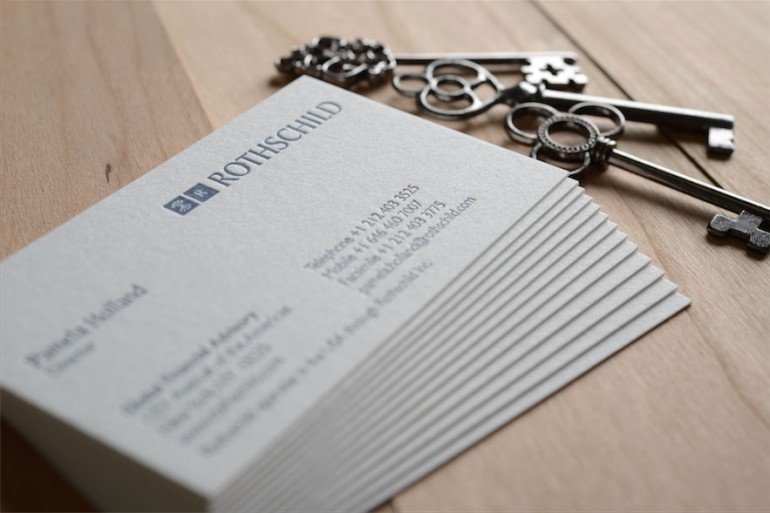 high quality letterpress business cards