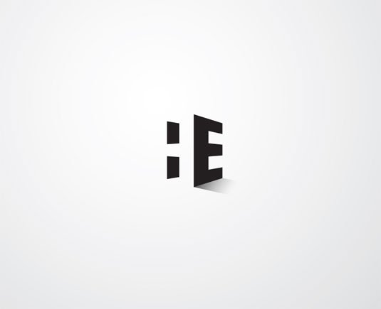 negative space logo