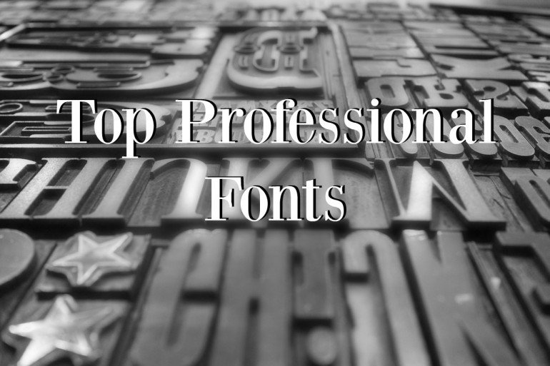 Top Professional Fonts