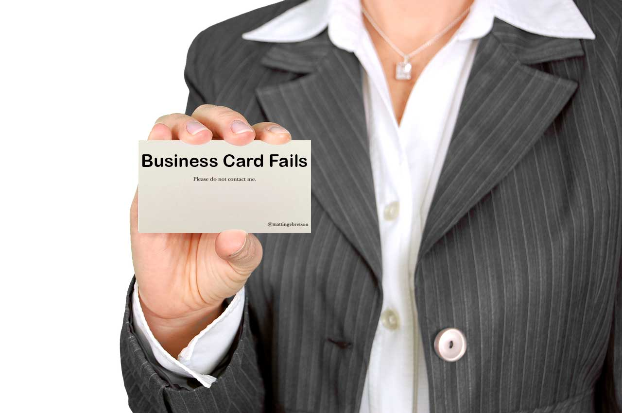 Business Card Fails | High Quality Business Cards NYC