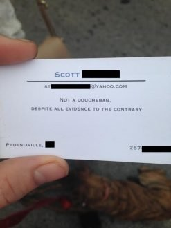 Business Card Fails