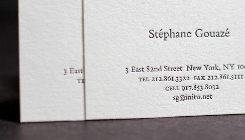 Cotton Business Cards NYC